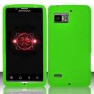 Hard Rubber Feel Plastic Case for Motorola Droid Bionic 4G XT875 (Verizon) - Green