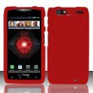 Hard Rubber Feel Plastic Case For Motorola Droid RAZR MAXX XT913/XT916 (Verizon) - Red