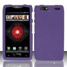 Hard Rubber Feel Plastic Case For Motorola Droid RAZR MAXX XT913/XT916 (Verizon) - Purple