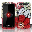 Hard Rhinestone Design Case for Motorola Droid RAZR XT912 (Verizon) - Fall Flowers