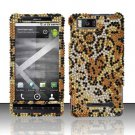 Hard Rhinestone Design Case for Motorola Droid X MB810 (Verizon) - Cheetah