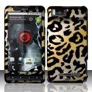 Hard Rubber Feel Design Case for Motorola Droid X MB810 (Verizon) - Cheetah