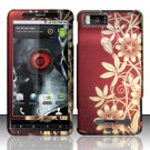 Hard Rubber Feel Design Case for Motorola Droid X MB810 (Verizon) - Bronze Garden