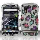 Hard Rhinestone Design Case for Motorola Photon 4G MB855 (Sprint) - Colorful Leopard