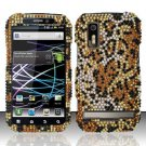 Hard Rhinestone Design Case for Motorola Photon 4G MB855 (Sprint) - Cheetah