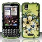 Hard Rubber Feel Design Case for Motorola XPRT MB612 (Sprint) - Hawaiian Flowers