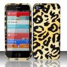 Hard Rubber Feel Design Case for Apple iPhone 5 - Cheetah