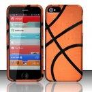 Hard Rubber Feel Design Case for Apple iPhone 5 - Basketball