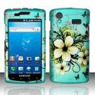 Hard Rubber Feel Design Case for Samsung Captivate i897 (AT&T) i897 (AT&T) - Natural Flowers