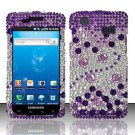Hard Rhinestone Design Case for Samsung Captivate i897 (AT&T) i897 (AT&T) i897 (AT&T) - Purple Gems