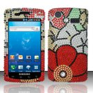 Hard Rhinestone Design Case for Samsung Captivate i897 (AT&T) i897 (AT&T) i897 (AT&T) - Fall Flowers