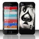 Hard Rubber Feel Design Case for Apple iPhone 5 - Spade Skull