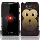 Hard Rubber Feel Design Case for Motorola Droid RAZR HD XT926 (Verizon) - Monkey