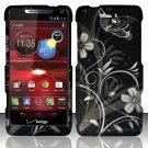 Hard Rubber Feel Design Case for Motorola Droid RAZR M 4G LTE XT907 (Verizon) - Midnight Garden