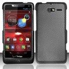 Hard Rubber Feel Design Case for Motorola Droid RAZR M 4G LTE XT907 (Verizon) - Carbon Fiber