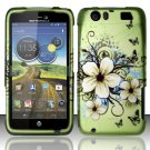 Hard Rubber Feel Design Case for Motorola Atrix HD 4G LTE MB886 (AT&T) - Hawaiian Flowers