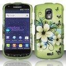 Hard Rubber Feel Design Case for Samsung Galaxy S Lightray 4G R940 (MetroPCS) - Hawaiian Flowers