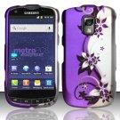 Hard Rubber Feel Design Case for Samsung Galaxy S Lightray 4G R940 (MetroPCS) - Purple Vines