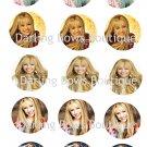 Hannah Montana Bottle Cap Image Sheet -- 4X6 -- Digital