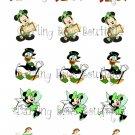 Disney St. Patrick's Day Bottle Cap Image Sheet -- 4X6 -- Digital