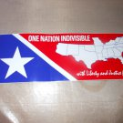 ONE NATION BUMPER STICKER