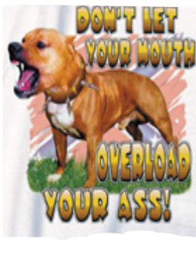 DONT LET YOUR MOUTH PIT REBEL LARGE T-SHIRT