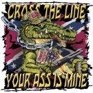 CROSS THE LINE GATOR  T-SHIRT LARGE