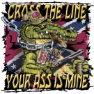 CROSS THE LINE GATOR  T-SHIRT XLARGE