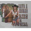 SAVE A HORSE RIDE A COW GIRL T-SHIRT 2X