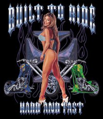 BUILT TO RIDE T-SHIRT X-LARGE