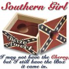 SOUTHERN GIRL CHERRY LARGE WHITE T-SHIRT