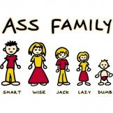 ASS FAMILY T-SHIRT X-LARGE ASH GRAY