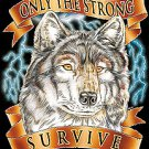 ONLY THE STRONGE WOLF T-SHIRT BLACK LARGE