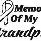 IN MEMORY GRANDPA T-SHIRT ASH GRAY MEDIUM