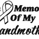 IN MEMORY GRANDMOTHER T-SHIRT ASH GRAY LARGE
