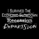 DEPRESSION T-SHIRT BLACK MEDIUM