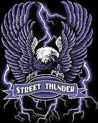 STREET THUNDER T-SHIRT BLACK SMALL