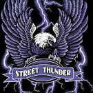 STREET THUNDER T-SHIRT BLACK MEDIUM