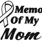 IN MEMORY MOM T-SHIRT ASH GRAY X-LARGE