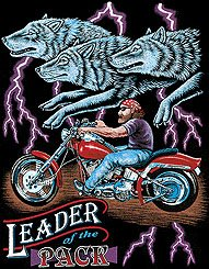 LEADER OF THE PACK T-SHIRT BLACK 2X