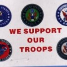 OUR TROOPS 3'X5' FLAG