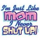 just like mom onesie 3/6 month