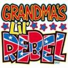 grandmas lil rebel onesies 6/9 month
