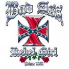 bad ass rebel gorl t shirt large