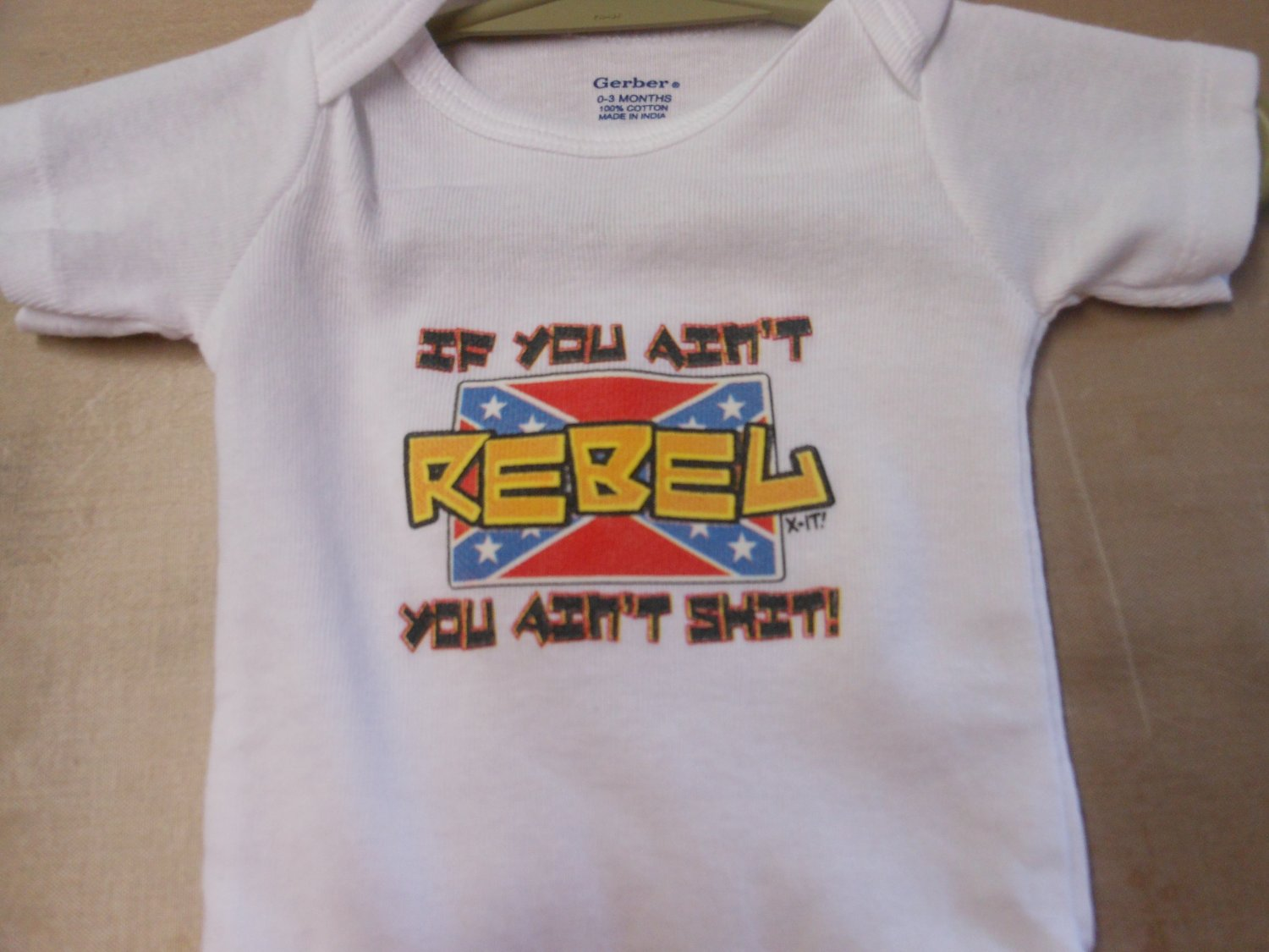 if you aint rebel onesies 0/3 month