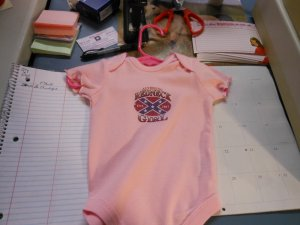 rebel girl onesies 12 month