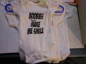 boobies make me smile onesies 24 month