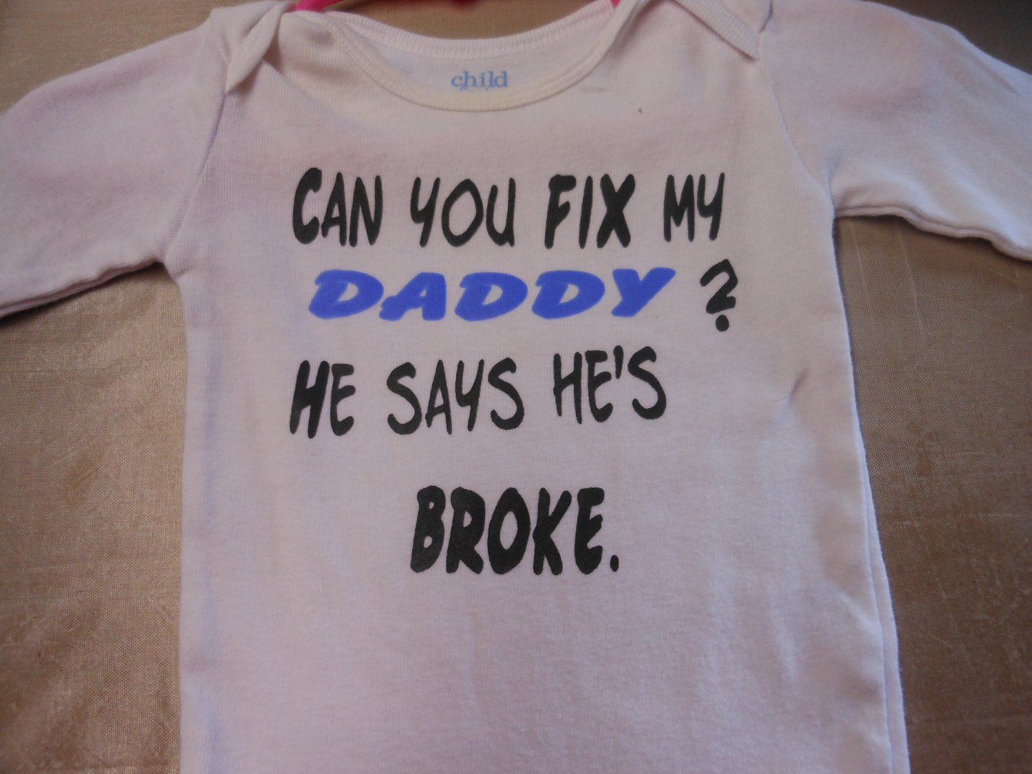 can you fix my daddy onesies 3/6 month