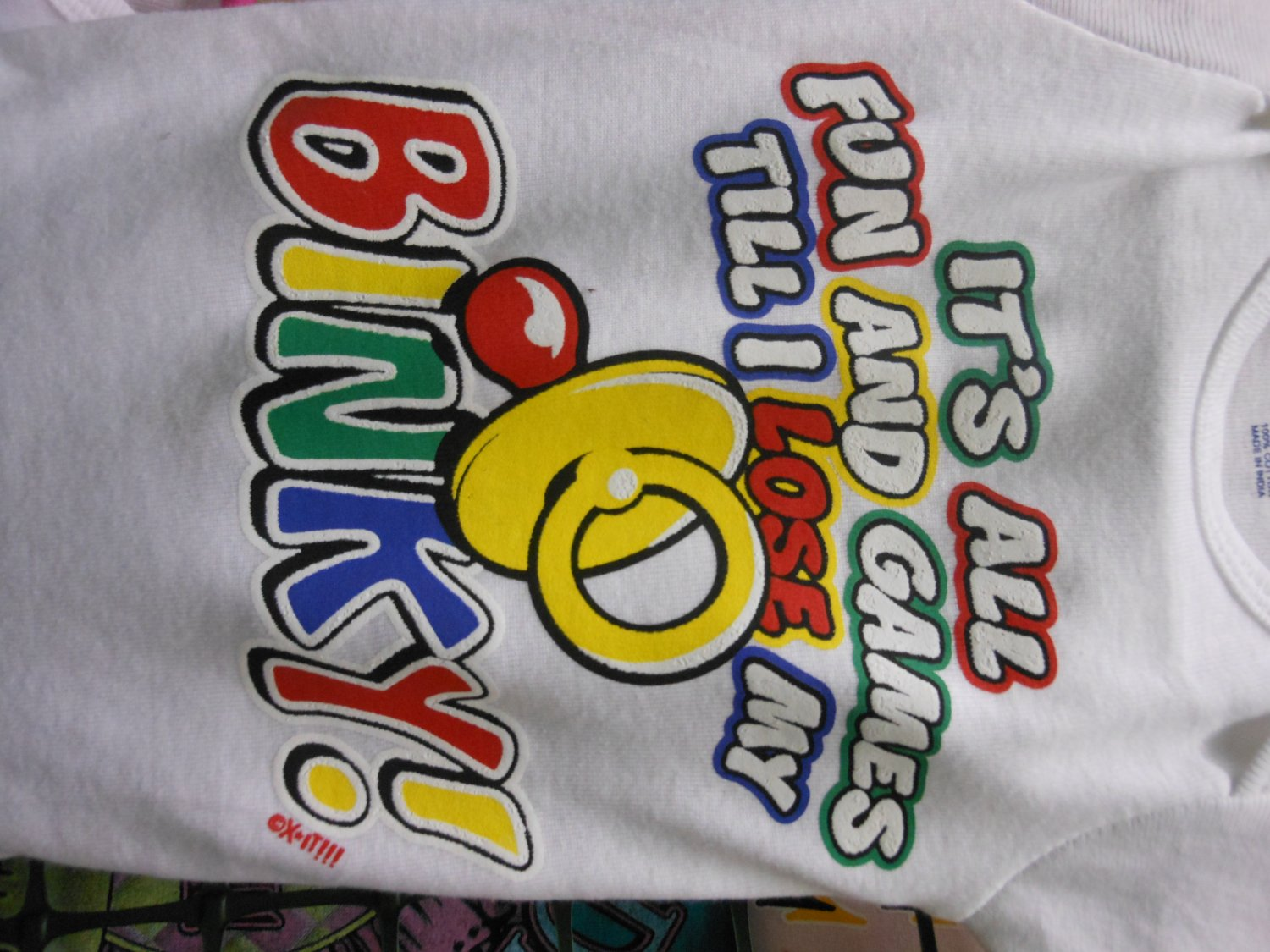 its all fun and games onesies 3/6 month