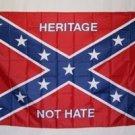 HERITAGE NOT HATE REBEL FLAG 3'X5'